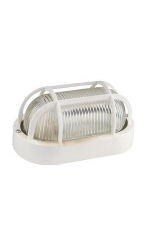 Aplique Oval plástico 60W - Aplique pared Oval plástico blanco 60W.Modelo 60.245/B.Ref: 60.245b
