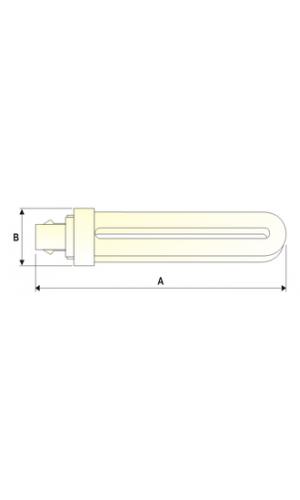 Tubo Fluorescente tipo PL - Bombilla tipo fluorescente PL.Ref: 8035018dia