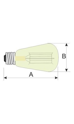 Bombilla decorativa Ovoide.40W E27  - Bombilla decorativa.Ovoide 40W E27 filamento de carbono.Ref: 80.671-40