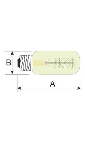 Bombilla decorativa Tubular 40W E27  - Bombilla decorativa Tubular 40W E27 filamento de carbono.Ref: 80.672-40