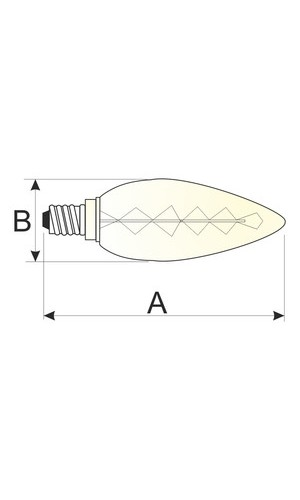 Bombilla decorativa Ovoide.40W E14  - Bombilla decorativa Ovoide.40W E14 filamento de carbono.Ref: 80.670-40