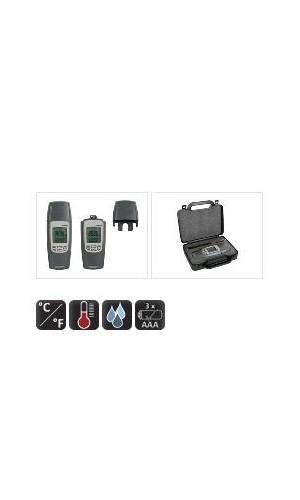 Termómetro e Higrómetro - Termómetro e Higrómetro con sensor de punto de rocio.Ref: dvm8010