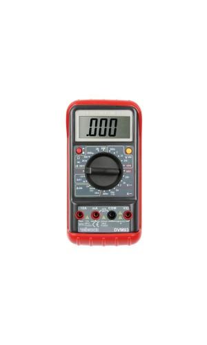 Mutímetro Digital Velleman - Multímetro de 3 ½ Dígitos - 24 Rangos / 10A .Ref: dvm93