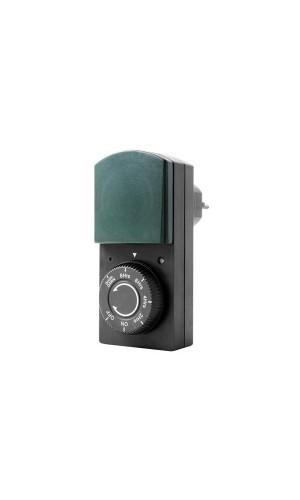 Temporizador Crepuscular - Temporizador crepuscular con función de cuenta atrás para uso en exteriores.Ref: e305dp-g