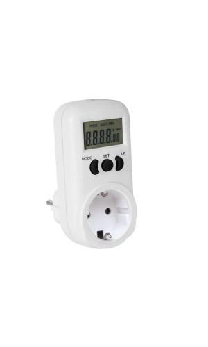 Contador de energía 230V / 16A  - Contador de energía 230V / 16A con toma de tierra lateral.Modelo: e305em6-g