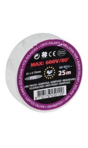 Rollo Cinta Aislante Blanca 25 mts. - Rollo cinta aislante blanca de 20 metros.Ref: 04-5012