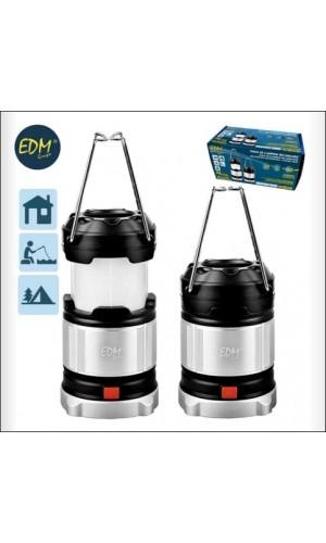 Mini Linterna de Camping recargable - Farol para camping recargable con bateria o pilas,4 posiciones de luz.Ref: 36.26