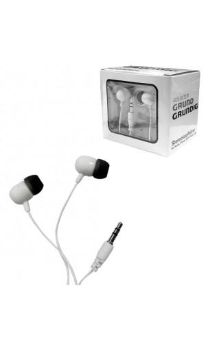 Auriculares stereo Grundig - Auriculares Grundig stereo jack 3,5mm.Ref: 59234