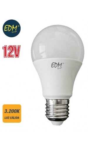 Bombilla standard Led 12V 10W E27 luz cálida - Bombilla standard Led 12V 10W E27 3.200K 810 Lumens luz cálida LUZ.Ref: 98850
