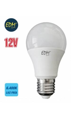 Bombilla standard Led 12V 10W E27 luz fria - Bombilla standard Led 12V 10W E27 6400K 810 Lumens luz cálida LUZ.Ref: 98851
