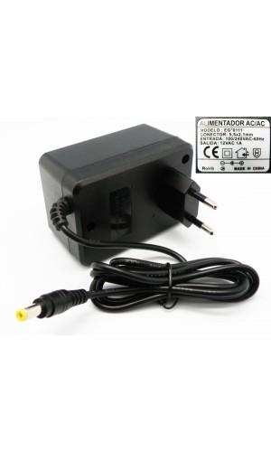 Alimentador 9V -1000mA Salida alterna - Alimentador no estabilizado salida corriente ALTERNA de 9V 1A.Ref: 0110