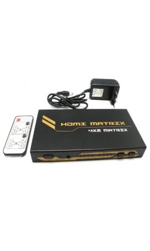 Matrix HDMI 4x2 Euroconex - HDMI Matrix 4x2 Euroconex.Ref: 0307