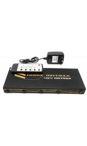 Matrix HDMI 4x4 Euroconex - HDMI Matrix 4x4 Euroconex.Ref: 0314