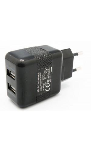 Cargador USB Red,2 A.con 2 salidas - Cargador USB Red, 100/240V., 5V.2A.con 2 salidas .Ref: 4100