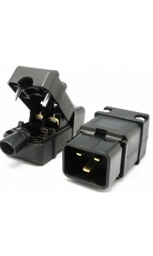 Conector alimentación C19 - 16A - Conector AC hembra 16A tipo C19.Ref.4110