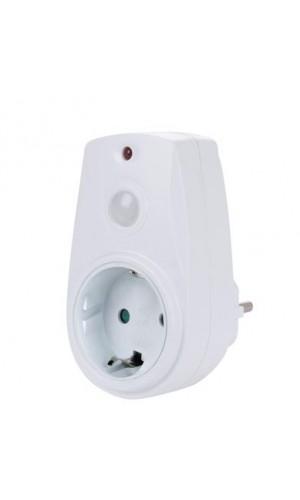 Enchufe con sensor fotoeléctrico - Enchufe con sensor fotoeléctrico,y toma de tierra.Ref: eht-g