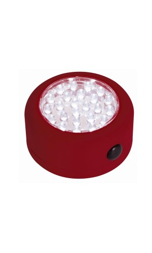 Lámpara led mágnetica 24 leds roja
