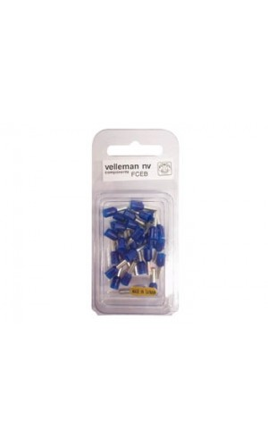 Blister 30 Conectores Cord-End - 2.5 mm² azules