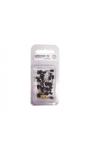 Blister 30 Conectores Cord-End - 1.5 mm² negros
