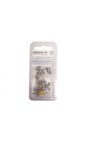 Blister 30 Conectores Cord-End - 0,75 mm² gris - Blister 30 Conectores Cord-End - 0,75 mm² color gris.Ref: fcegy