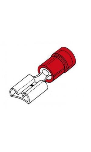 Terminal Hembra  6.4 mm-Rojo