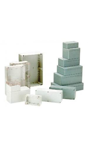 Caja Estanca Gris  265 x 185 x 95mm - Caja estanca  ABS color gris oscuro de 265 x 185 x 95mm.Ref: g378