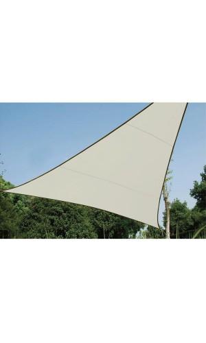 Vela de sombra triangular 5 x 5 mts - Vela de sombra triangular - 5 x 5 m x 5 m, Color Crema.Ref: gss3500