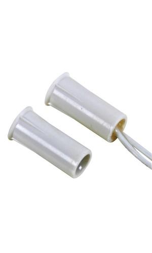 Contacto magnético cilíndrico 0,5A - Contacto cilíndrico para empotrar precableado.Ref: haa304