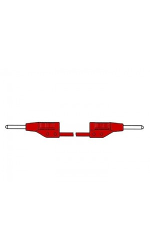 Cable de medición moldeado 2mm 25cm / Rojo - Cable de medición moldeado 2mm 25cm / Rojo (MVL 2/25).Ref: hm021025