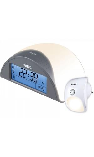Reloj despertador con sensor de presencia remoto