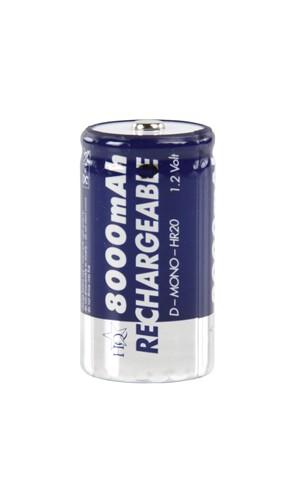 Blister 2 Baterias HQ formato R20 8A - Blister de 2 baterias tipo R20-D- NI-MH de 8 A.Ref: hq-nimh-r20h