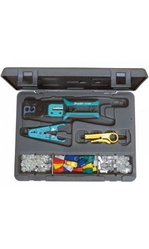 Juego herramientas Informática - Kit de herramientas para redes y telefonía.Ref: hrv7576