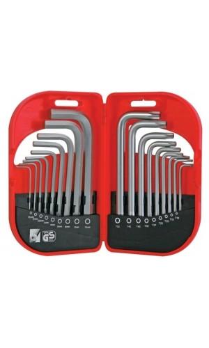 Juego 18 llaves Allen & Torx - Juego de 18 llaves Allen & Torx.Ref: hset18