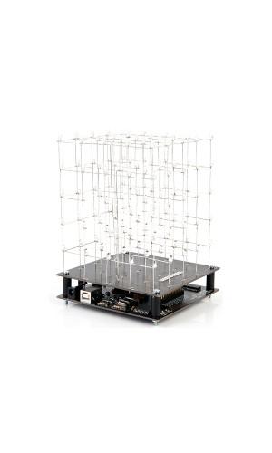 Kit Cubo de Leds 3D 5 x 5 x 5 Leds Blancos - Kit para montar un Cubo de Leds Blancos 3D 5 x 5 x 5.Ref: k8018w