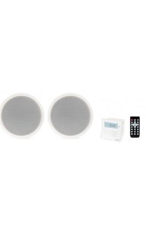 Kit Sonido con Radio FM Fonestar - Kit Amplificador de pared y pareja de altavoces de techo.Ref: ks-06