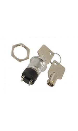 Interruptor de llave 2P - Interruptor de llave 2P ON-OFF (DPST).Ref: ks5