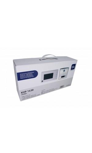 Videoportero unifamiliar 2 hilos - Kit de videoportero unifamiliar con placa de calle PE 1 y monitor de interior MON 43. Ampliable a tres monitores y segunda placa. Sistema dos hilos no polarizado.Ref: kvp1430