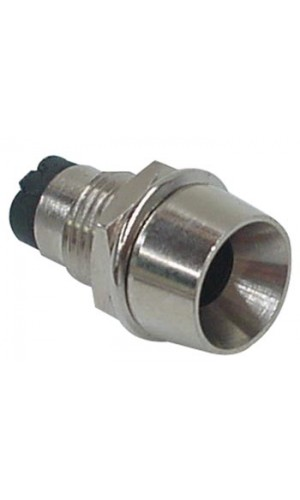 Soporte Cromado para Leds de 5 mm - Soporte Cromado para fijar leds de 5 mm.Ref: lampholdb