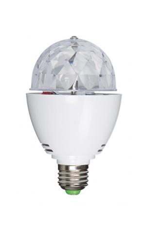 Mini semiesfera LED con 3 LED R, G, B de 1 W - Mini semiesfera LED con 3 LED R, G, B de 1 W.Efecto atmósfera, cambio de colores,Casquillo E27.  .Ref: led-miniball27
