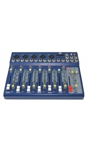 Mezclador de 5 entradas mono y 1 estéreo con reproductor MP3 - Mezclador de 5 entradas mono y 1 estéreo con reproductor MP3 incorporado.Ref: live7-usb
