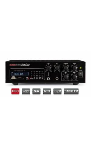 Amplificador Fonestar 30W USB y Radio - Amplificador de megafonía,Grabador/reproductor USB/SD/MP3 con Sintonizador digital FM.Modelo: ma-30rgu
