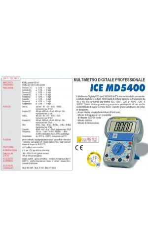 Multímetro ICE Digital MD-5400
