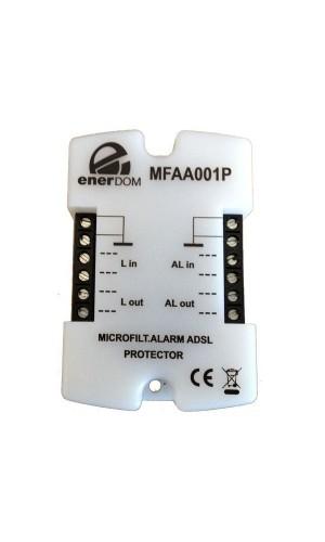 Microfiltro ADSL,especial para Alarmas  - Microfiltro ADSL. especial para Alarmas con circuitos de protección contra sobretensiones.Ref: mfaa001p