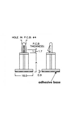 Bolsa 50 Separadores Circuito Impreso - Bolsita con 50 separadores de plástico de 10 mm para circuitos impresos.Ref: mmb100