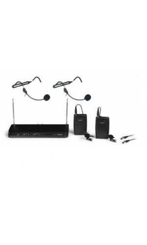Doble micrófono inalámbrico petaca VHF Fonestar - Doble micrófono inalámbrico petaca VHF Fonestar.Modelo : msh-236