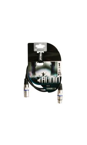 Conexión XLR Macho - XLR Hembra 6 Mts - Cable xlr profesional,xlr macho a xlr hembra de 6 mts.Ref: pac122