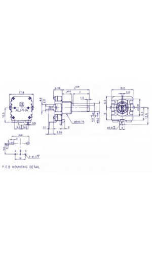 Potenciómetro Digital - Potenciómetro Digital 24 pulsos.Ref: potdi