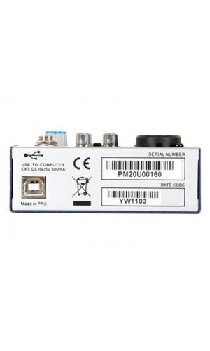Mini Mesa Mezcla Audio con USB - Mini mesa de mezclas de audio con puerto USB.Ref: promix20u