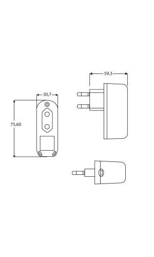 Alimentador Conmutado 15VDC / 1.2A  - Alimentación ultracompacta conmutada 15VDC / 1.2A. Ref: pss1512