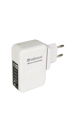Alimentador Cargador USB con Conectores de Viaje - Estación de alimentación/cargador USB con conectores de viaje.Ref: psseusb6a